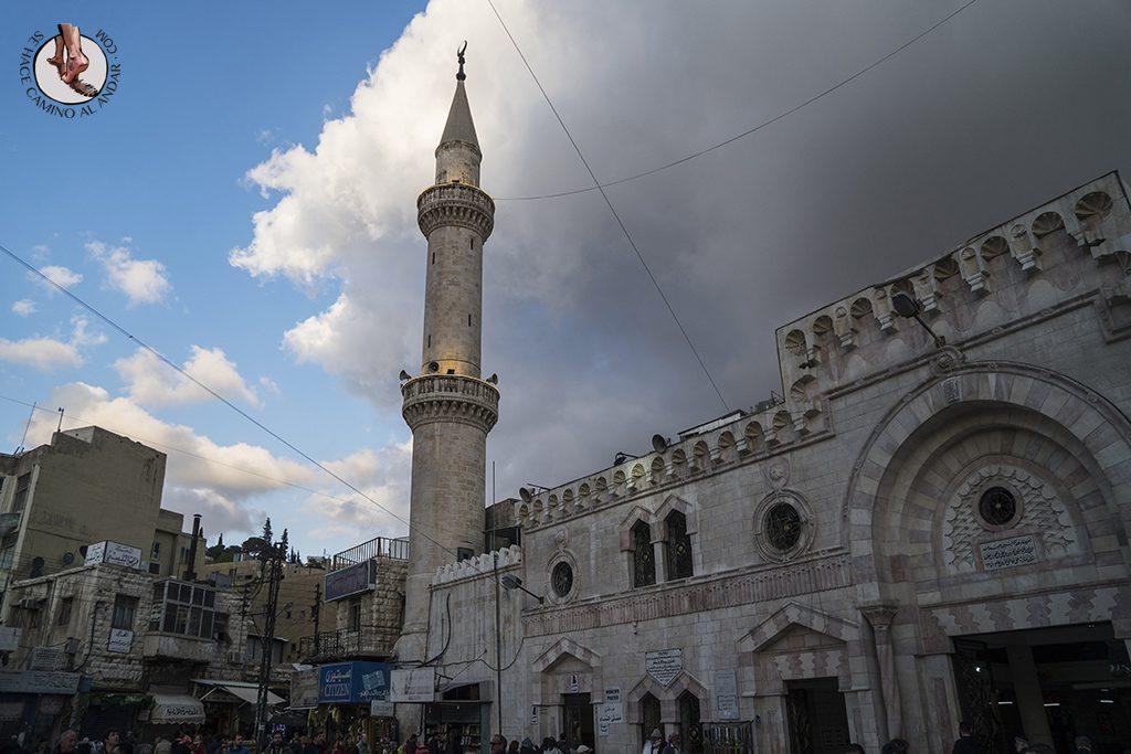 visitar amman un dia mezquita al-hussein atardecer